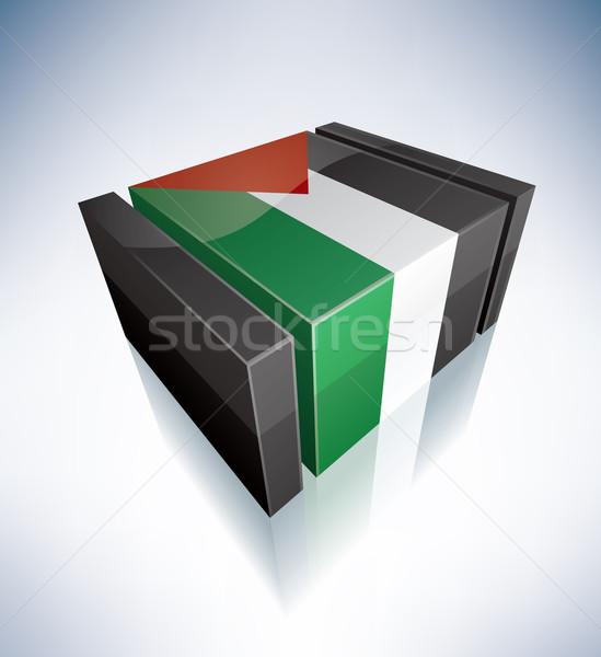 3D flag of Palestine Stock photo © Vectorminator