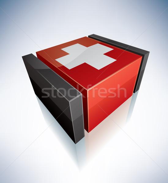 3D flag of Switzerland Stock photo © Vectorminator