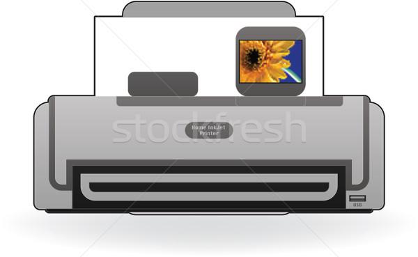 Stock fotó: Tintasugaras · nyomtató · otthon · szín · fotó · elöl