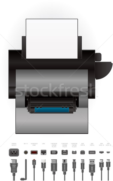 LaserJet Printer Stock photo © Vectorminator