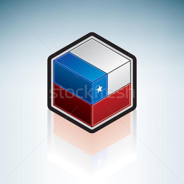 Чили Южной Америке флаг республика 3D изометрический Сток-фото © Vectorminator