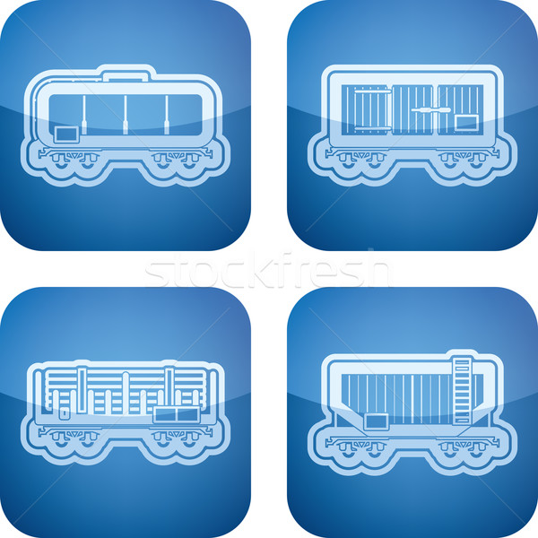 Industry Icons: Railroad transportation Stock photo © Vectorminator