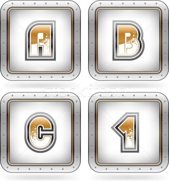 Dígitos cartas raspe bolha Foto stock © Vectorminator