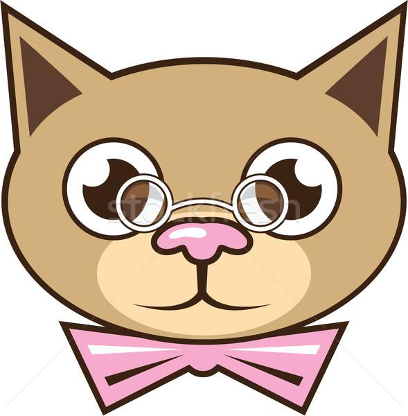 Cat bowtie vector illustration clip-art image Stock photo © vectorworks51