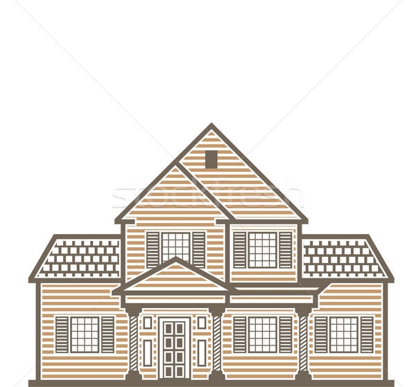 Stockfoto: Familie · huis · clipart · afbeelding · home · leven