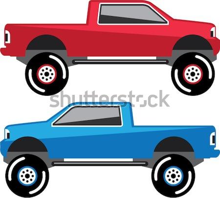 SUV vector edgy illustration clip-art image vector Stock photo © vectorworks51