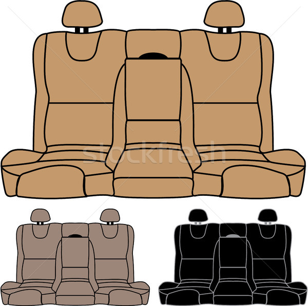 Back seat car isolated vector image Stock photo © vectorworks51
