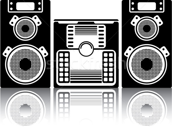 Boombox stereo system vector image clip-art Stock photo © vectorworks51