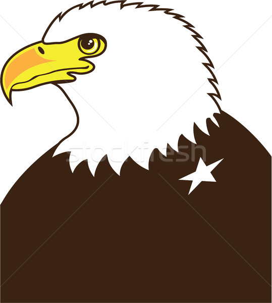 Eagle profile general vector eps illustration  Stock photo © vectorworks51