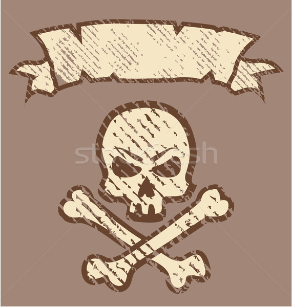 Grunge cráneo clipart imagen moda fondo Foto stock © vectorworks51