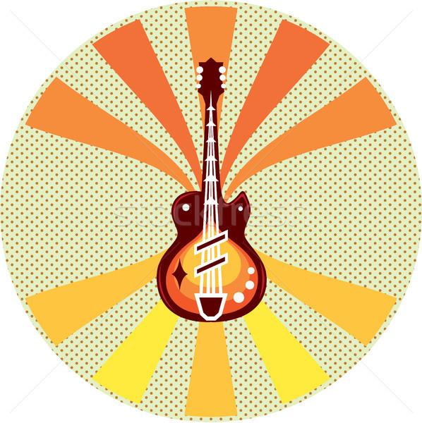 Gitar sanat görüntü eps dosya parti Stok fotoğraf © vectorworks51