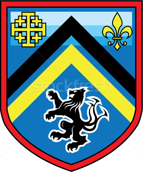Coat of Arms Dragon Lion 2 stripes vector shield Stock photo © vectorworks51