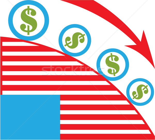 Dólar rodar vector economía clipart imagen Foto stock © vectorworks51