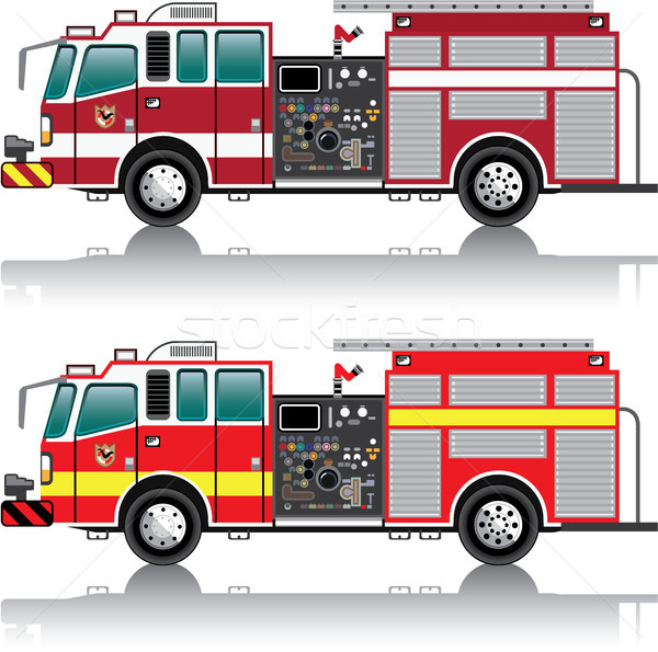 Firetruck vector illustration clip-art image  Stock photo © vectorworks51