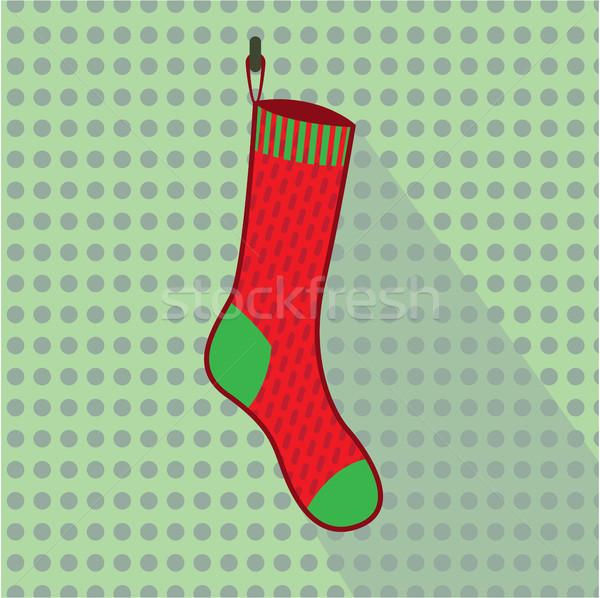 Noël chaussette image hiver amusement Photo stock © vectorworks51