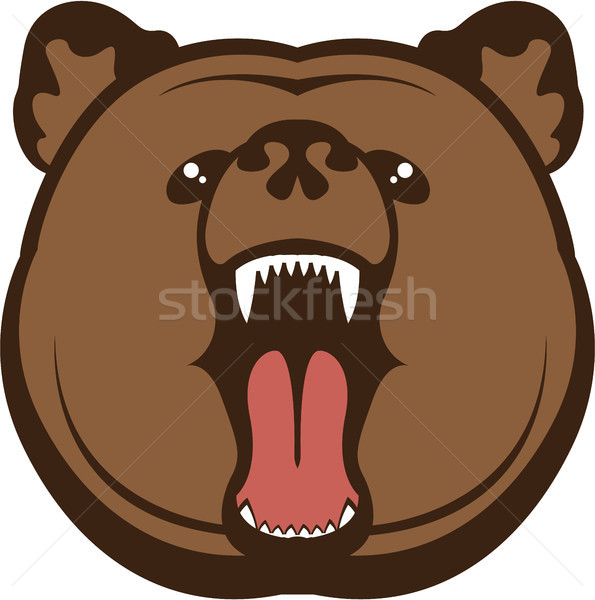 Bear roar vector eps clip-art image Stock photo © vectorworks51
