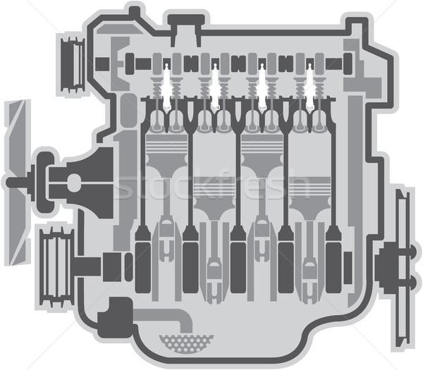 Engine vector image illustration clip-art file Stock photo © vectorworks51