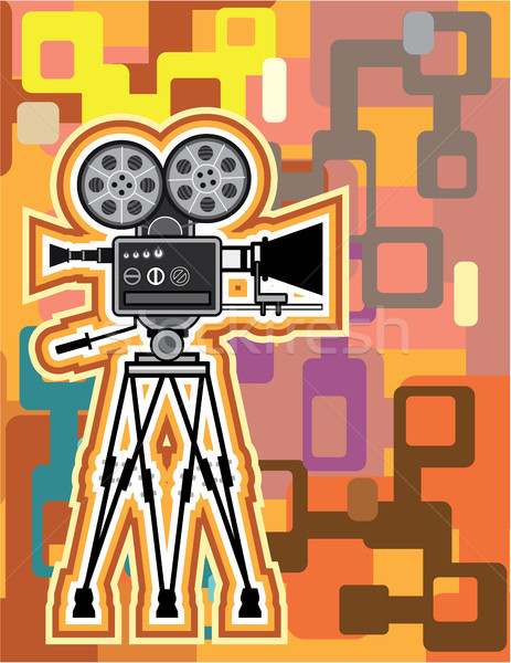 Abstract camera vector illustration clip-art image Stock photo © vectorworks51
