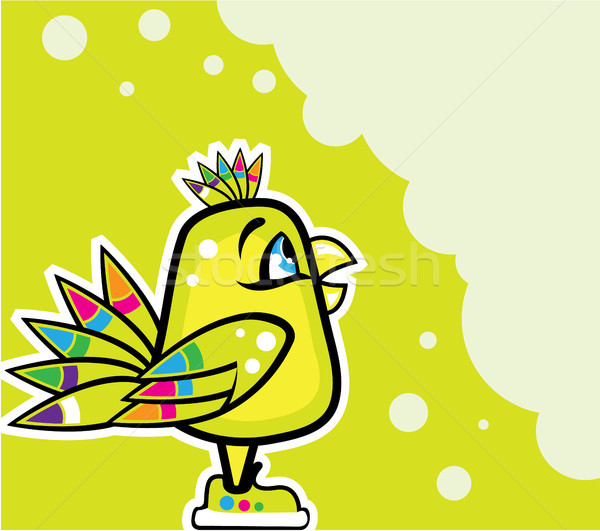 Colorful bird vector illustration clip-art eps Stock photo © vectorworks51
