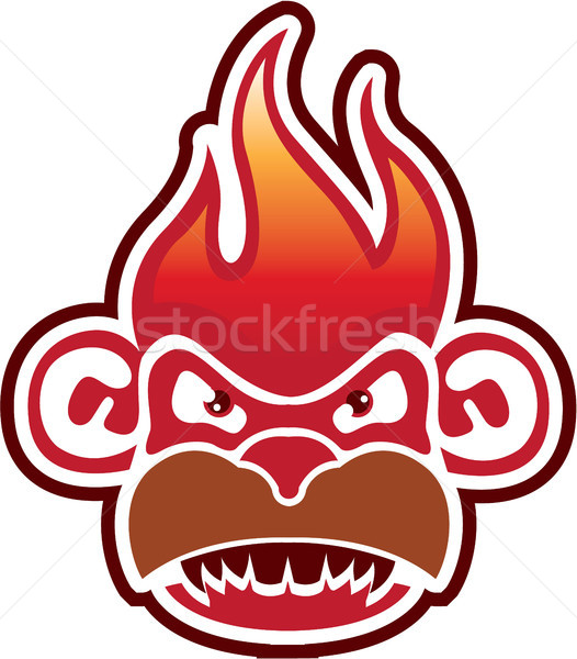 燃えるような 猿 クリップアート 画像 頭 ジャングル ストックフォト © vectorworks51