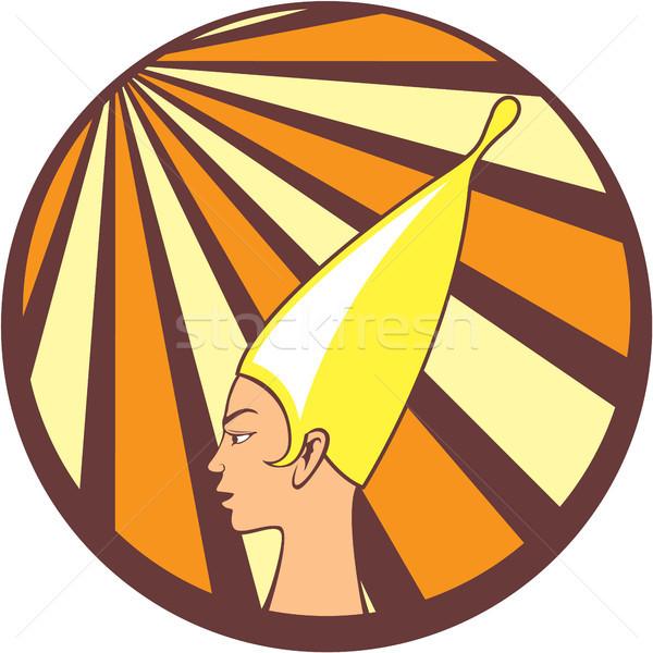 Egyptian princess vector icon clip-art image Stock photo © vectorworks51