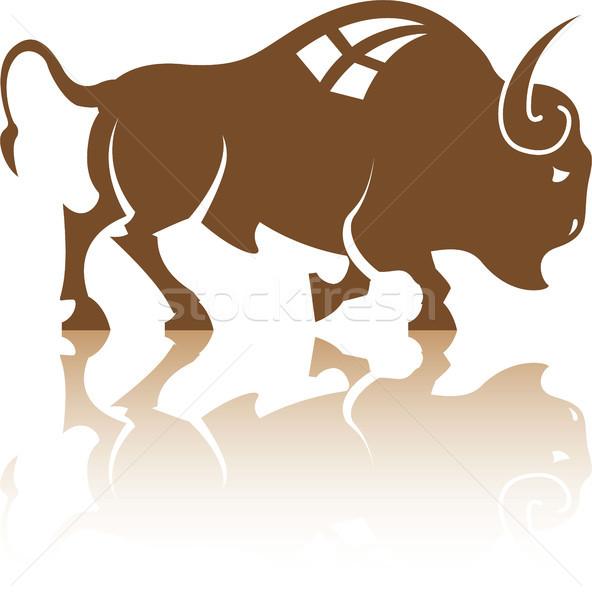 Bison animal vector illustration clip-art file Stock photo © vectorworks51