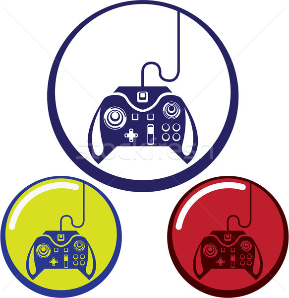 Game controller icon clip-art eps vector image Stock photo © vectorworks51