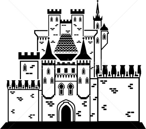 Castle stone vector illustration clip-art eps image Stock photo © vectorworks51