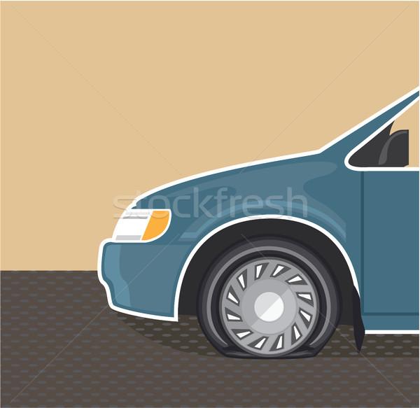 Pneumatico colore auto illustrazione clipart immagine Foto d'archivio © vectorworks51