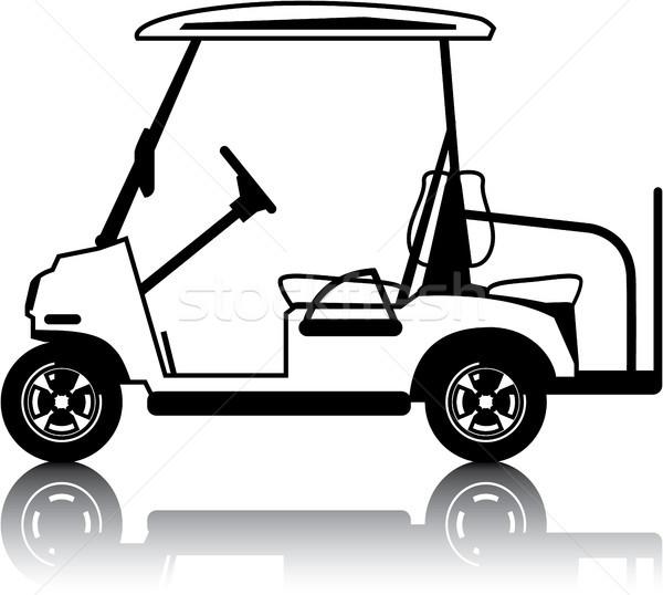 Beyaz golf araba araç clipart vektör Stok fotoğraf © vectorworks51