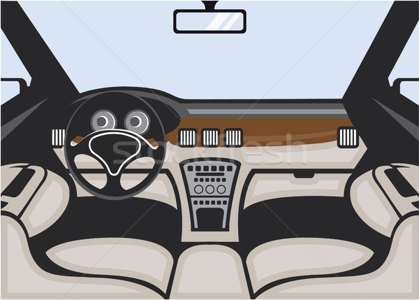 Stock photo: Car interior vector image illustration clip-art eps