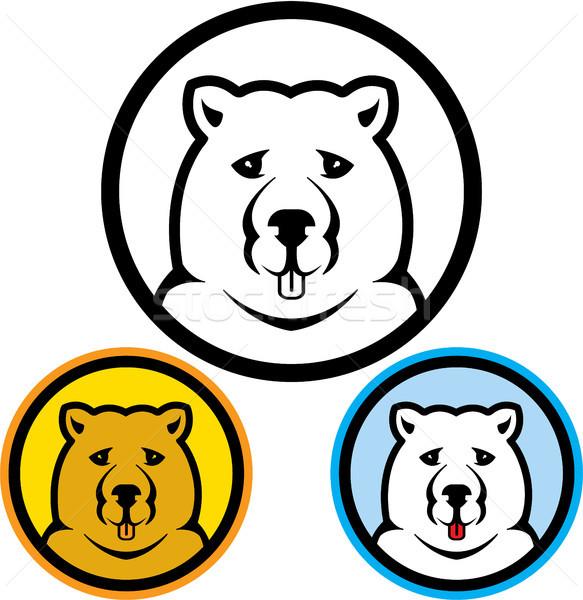 Bear icon vector illustration clip-art image Stock photo © vectorworks51