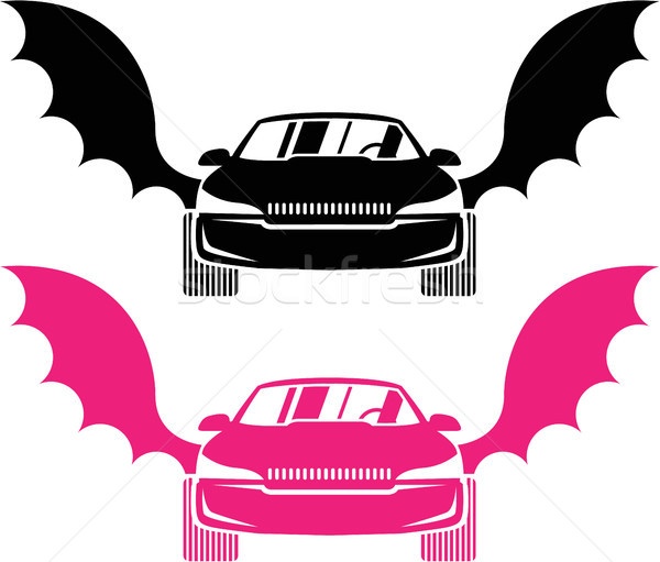 Car with wings vector illustration clip-art image Stock photo © vectorworks51