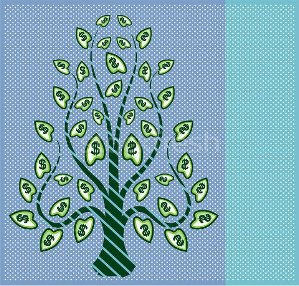 Dollar tree vector illustration clip-art image Stock photo © vectorworks51