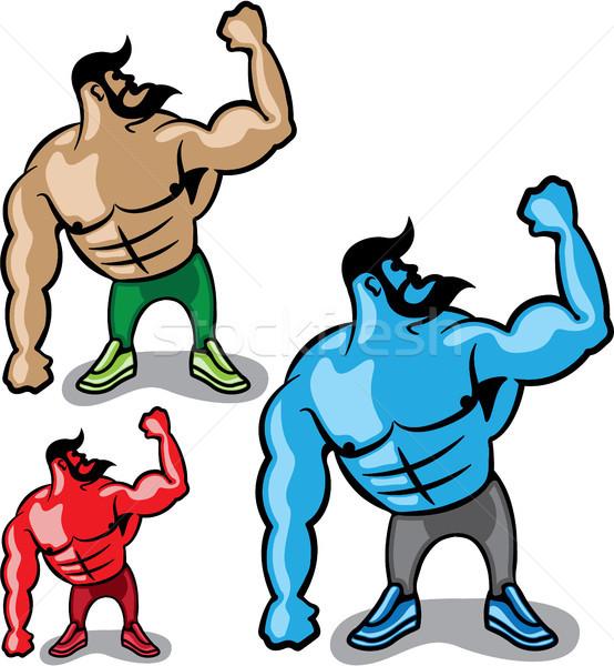 Color hulk vector illustration clip-art eps image Stock photo © vectorworks51