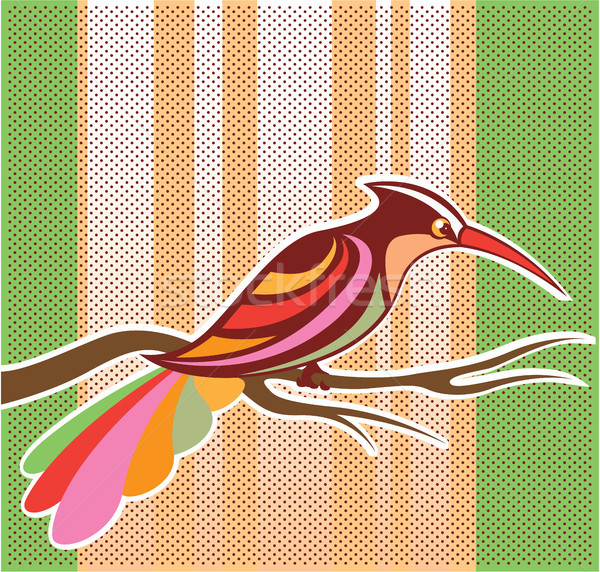 Color bird vector illustration clip-art image Stock photo © vectorworks51