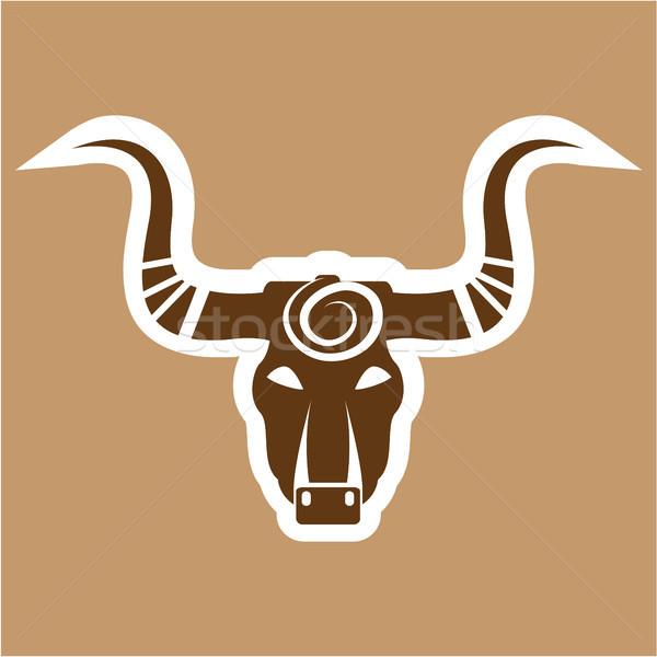 Stock photo: Bull cartoon angry animal vector eps image