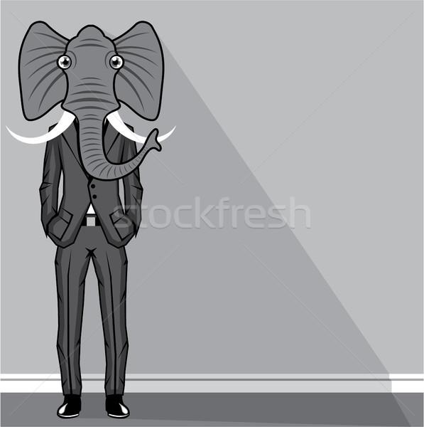 象 男 クリップアート 自然 ボディ スーツ ストックフォト © vectorworks51