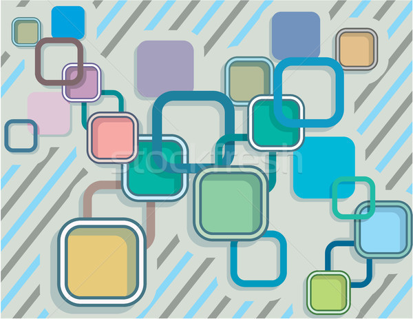 Rounded squares vector illustration clip-art image Stock photo © vectorworks51