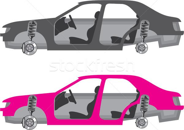 Auto lichaam geen wielen deuren clipart Stockfoto © vectorworks51