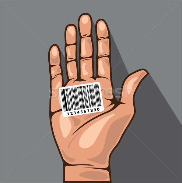 Bar code in hand vector illustration clip-art image Stock photo © vectorworks51