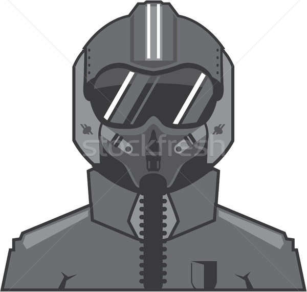 Fighter pilot vector illustration clip-art eps Stock photo © vectorworks51