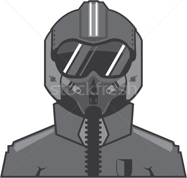 Lutteur pilote eps guerre avion Photo stock © vectorworks51