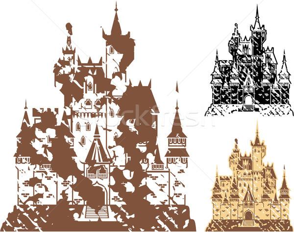 Grunge castle vector illustration clip-art image Stock photo © vectorworks51