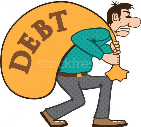 Debt man vector illustration clip-art image Stock photo © vectorworks51