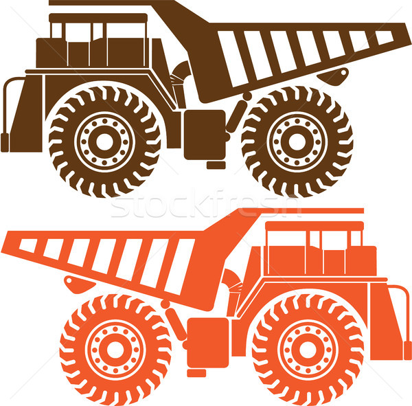 Exra heavy truck machinery vector image Stock photo © vectorworks51