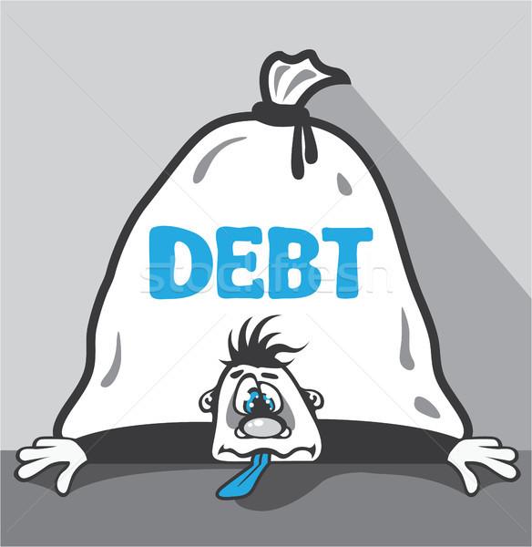 Borç basınç clipart görüntü para banka Stok fotoğraf © vectorworks51