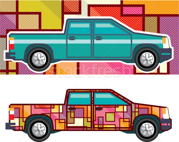 Truck wrapped auto vector illustration clip-art image Stock photo © vectorworks51