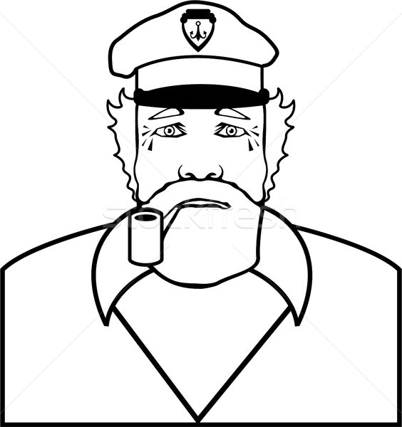 Captain outline illustration clip-art image vector Stock photo © vectorworks51