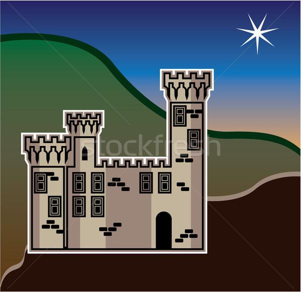 Castle star vector illustration clip-art image Stock photo © vectorworks51